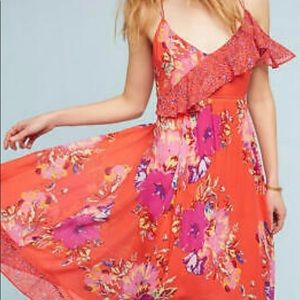 Anthropologie flowered dress